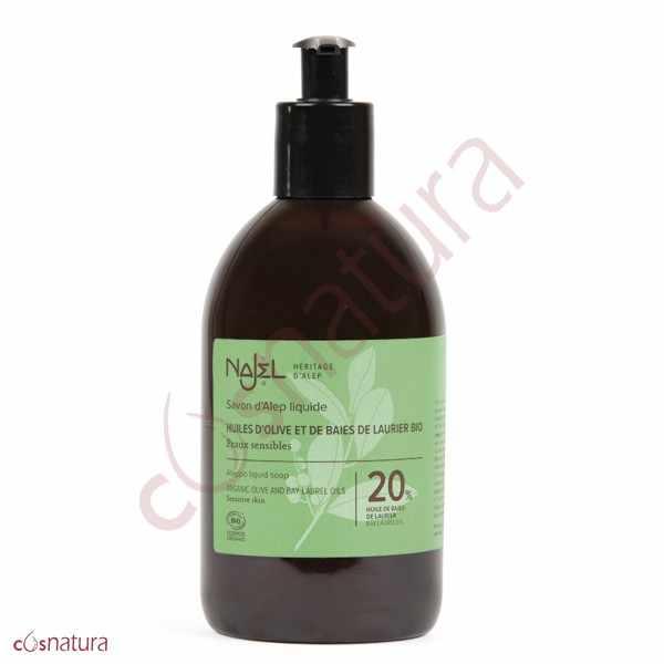 Jabón de Alepo Líquido 20% Najel 500 ml