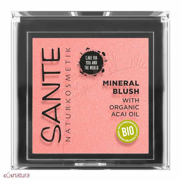 Colorete Mineral 01 Mellow Peach Sante