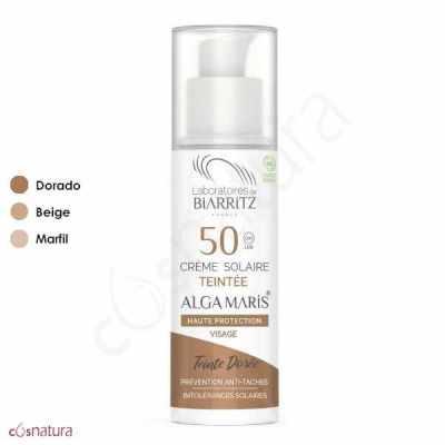 Crema Solar Color Dorado SPF50 Alga Maris