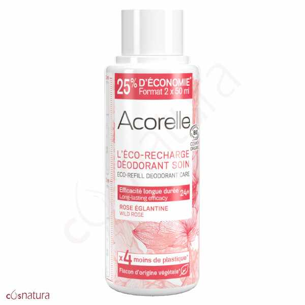 Eco-Recarga Desodorante Rosa Silvestre Acorelle