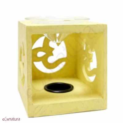Quemador de Esencias Cubo Amarillo