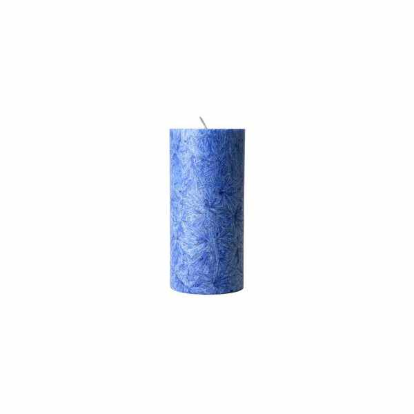 Vela Vegetal Cilindro Grande Azul